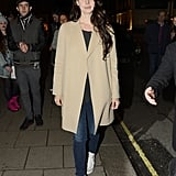Lana Del Ray doesn't need a red-carpet dress to get our attention; the performer turned heads with a classic camel coat and a pair of Converse.