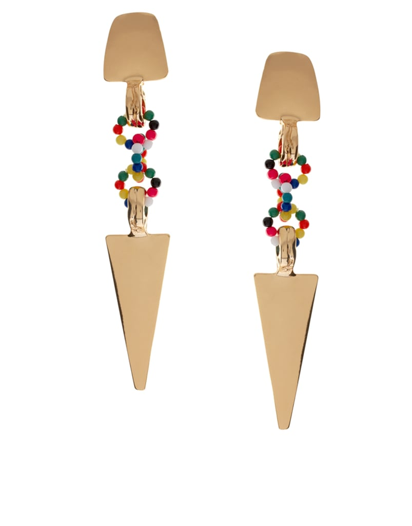 ASOS Arrow and Bead Link Earrings ($28)