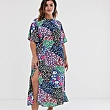 John Zack Plus Scarf Print Midaxi Dress in Multi Print
