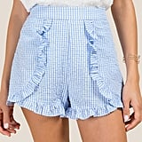 Nyla Gingham Searsucker Shorts