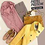 Softer pastels look great next to primary brights, like yellow.