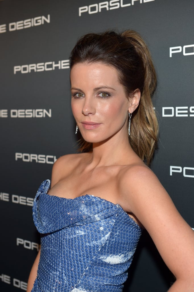 Kate Beckinsale wore her hair up to the event.