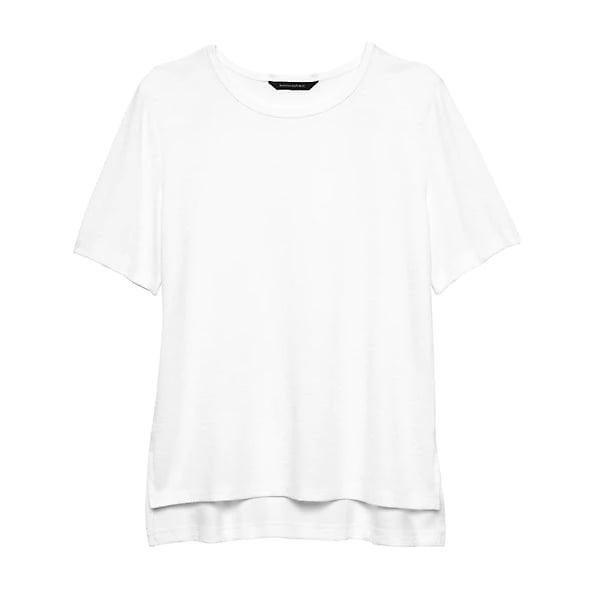 Luxespun Boyfriend T-Shirt with Side Slits