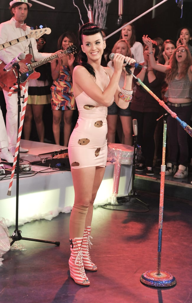 Pictures of Katy Perry Performing on Live Much at Much Music in Toronto Rumours About Latex Wedding Dress