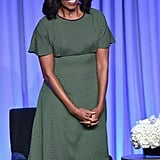 The first lady slipped into the dress for the American Magazine Media Conference in NYC back in February.