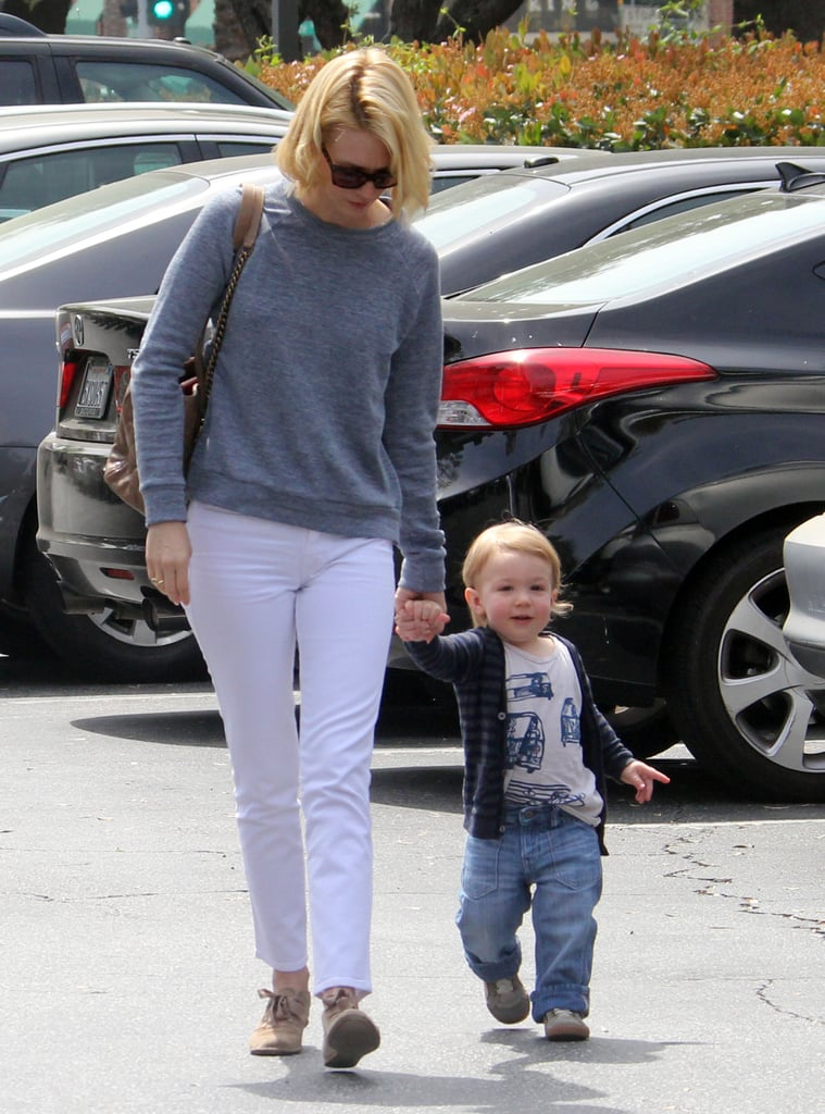 January Lunches With Xander as She Gears Up For Mad Men's Return