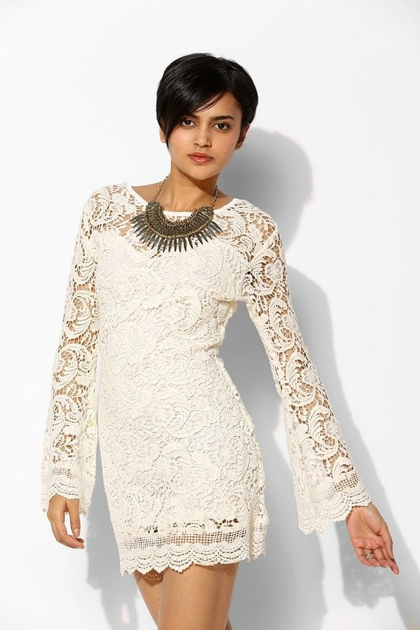 Lovecat White Lace Dress
