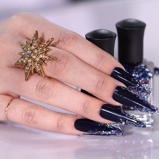 Those Nails, Though! A Swarovski Crystal Manicure You Can Replicate on the Cheap
