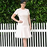 When she attended Royal Ascot in 2016, Kitty followed the dress code and wore a blush dress with a black fascinator and heeled sandals.