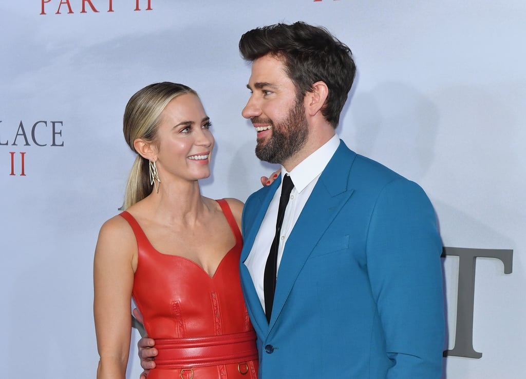 The Abbott family had a mini reunion at the NYC premiere of A Quiet Place Part II. On Sunday, onscreen and offscreen couple Emily Blunt and John Krasinski made a dashing appearance together as they cuddled up for photos and shared a few laughs on the red carpet. Of course, the sweetest moment was when Emily caught a glimpse of their onscreen daughter Millicent Simmonds. The two immediately stopped what they were doing to give her a round of hugs. Though their onscreen son Noah Jupe wasn't at the premiere, it definitely warms our hearts to see part of the Abbott family back together again, especially after the events of the first film. Get ready to see the entire group back in action (yes, Lee Abbott included) when the film hits theaters on March 20.      Related:                                                                                                           John Krasinski and Emily Blunt Really Have the Look of Love Down