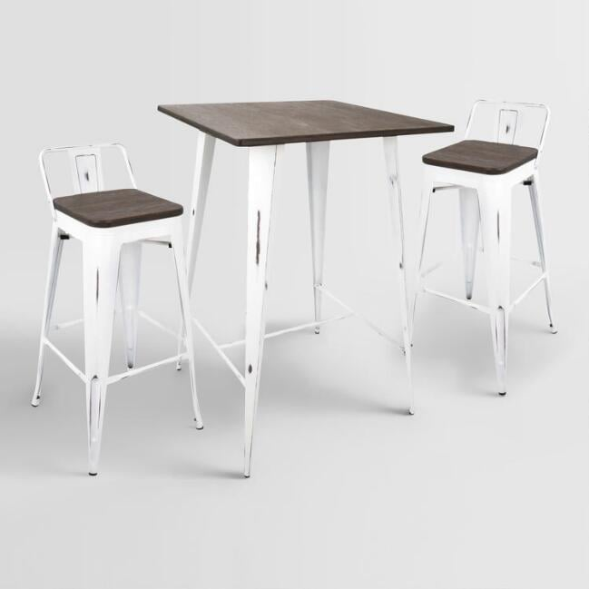 White Ridgeby Low-Back Barstools Pub Dining Collection