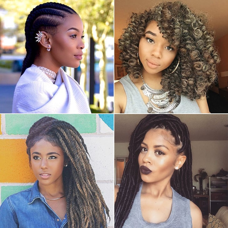 Amazing Black Braided Hairstyles With Extensions Popsugar Beauty Short Hairstyles For Black Women Fulllsitofus