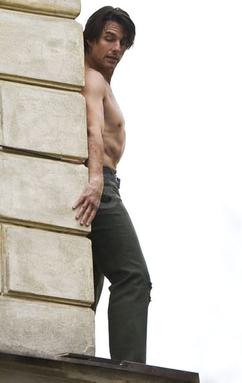 Pictures of Tom Cruise Shirtless on the Set of Mission Impossible 4 in Prague