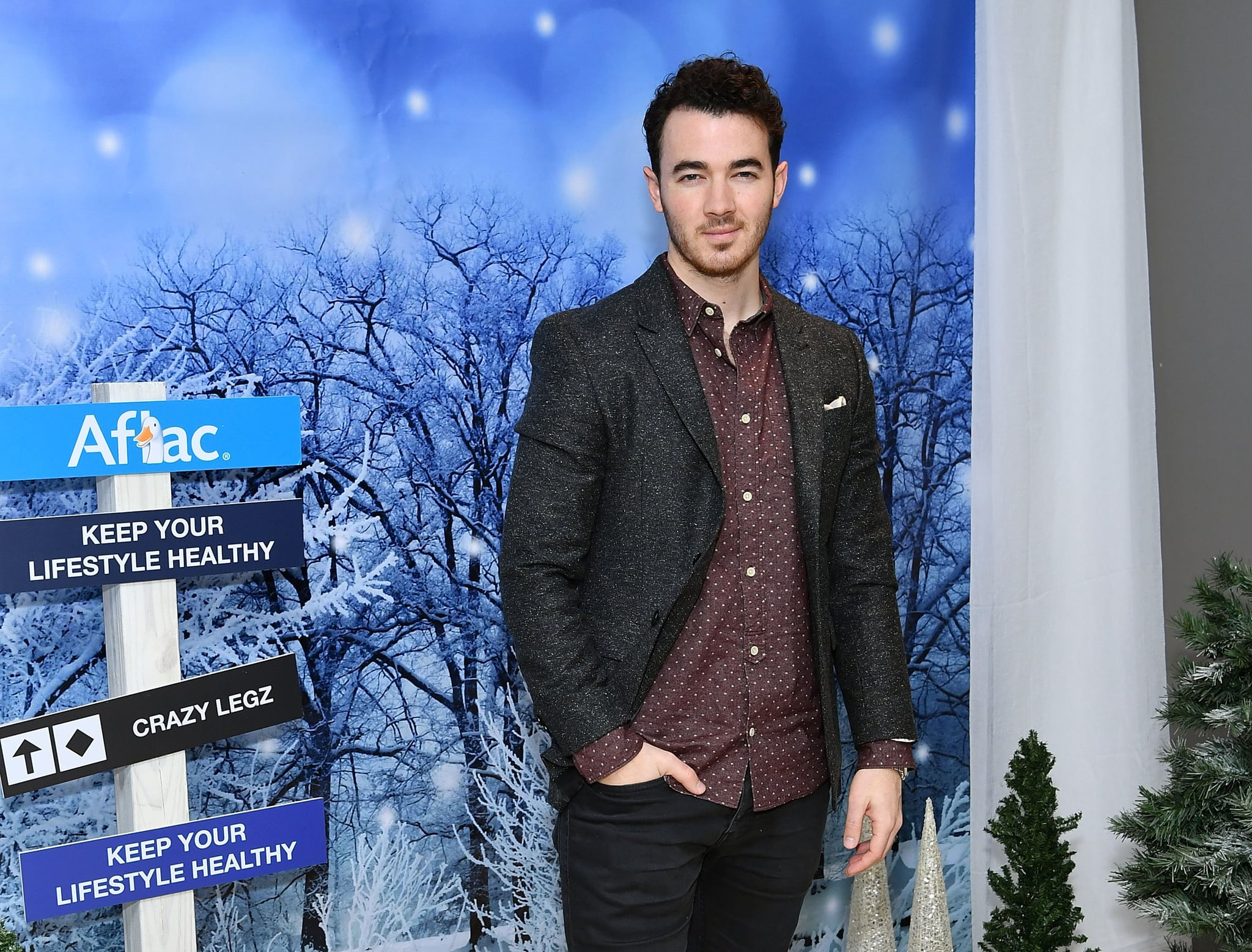 NEW YORK, NY - DECEMBER 19:  Kevin Jonas attends #AFLACHOLIDAYHELPERS campaign launch on December 19, 2016 in New York City.  (Photo by Slaven Vlasic/Getty Images)
