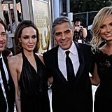Brad Pitt, Angelina Jolie, George Clooney and Stacy Kiebler
