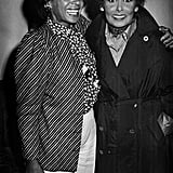 Smiling with Shirley Bassey in 1984.