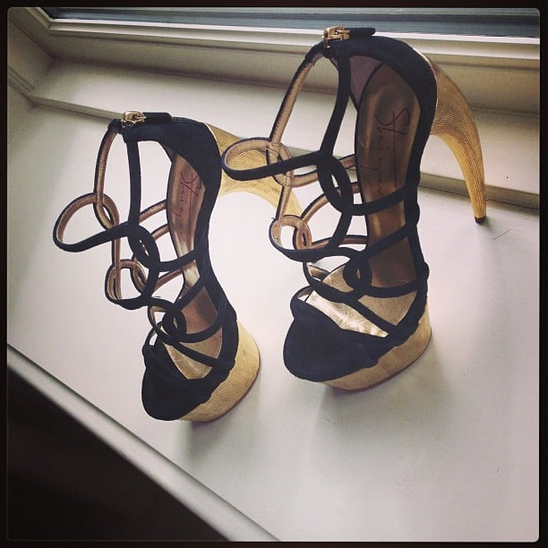 Emma Roberts gave us a glimpse of her incredible Walter Steiger claw heels. Source: Instagram user emmaroberts6