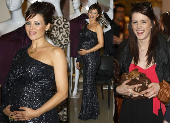 Photos of Dannii Minogue Pregnant Pictures Launching Project D Clothing Line With Lucie Jones and Puppy From The X Factor