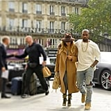 """On their first day in Paris, Kim posted a picture on Instagram with the caption """"Bonjour Baby."""" Source: Instagram user kimkardashian"""