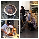 Thanksgiving 2013 was all about family. Britney and her boys joined her mom Lynne and dad Jamie, who showed Jayden how to cut their fried turkey.
