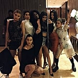 Gigi Hadid, Bella Hadid, Kylie Jenner, Kendall Jenner, and Friends