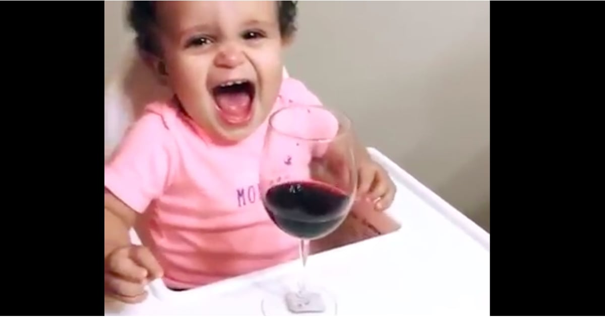 Baby Only Stops Crying For Wine Video Popsugar Family