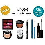 NYX Showbag ($28) Includes:  Lip cream palette  Matte bronzer  Slim eye pencil