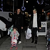 Gavin Rossdale took an evening walk in London.