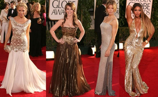 The Golden Globes Red Carpet: Mad for Metallics