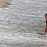 Olivia Palermo Johannes Huebl spent time in the water together.