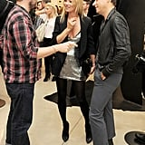 Kate Moss and Jamie Hince chill at the White Cube.