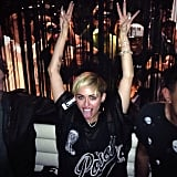 Miley Cyrus celebrated her SNL hosting gig at the show's afterparty. Source: Instagram user mileycyrus