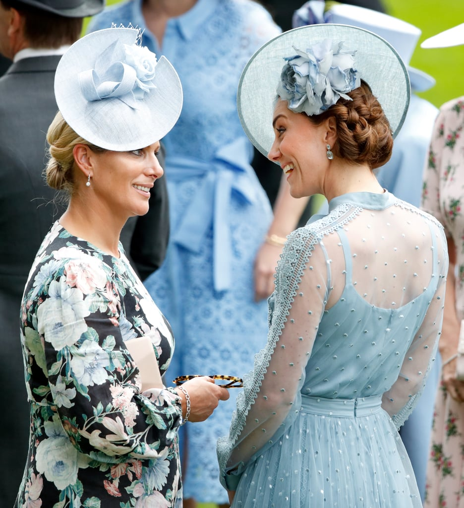 Kate Middleton and Zara Tindall at Royal Ascot in 2019
