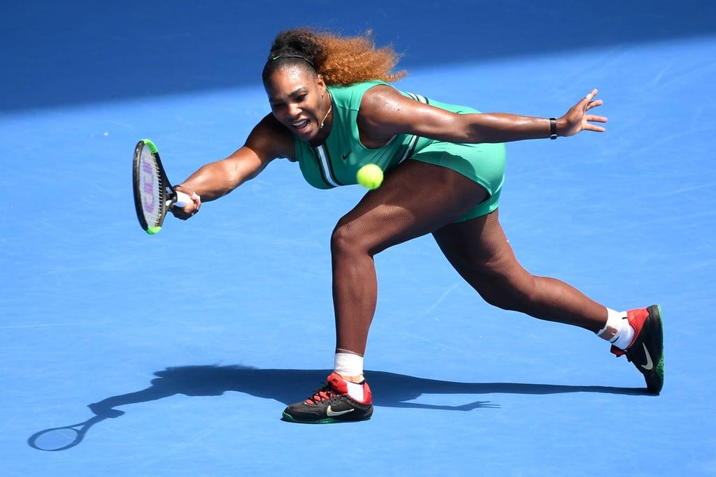 c1fb46f2d83 Serena Williams s Green Bodysuit at the Australian Open 2019 ...