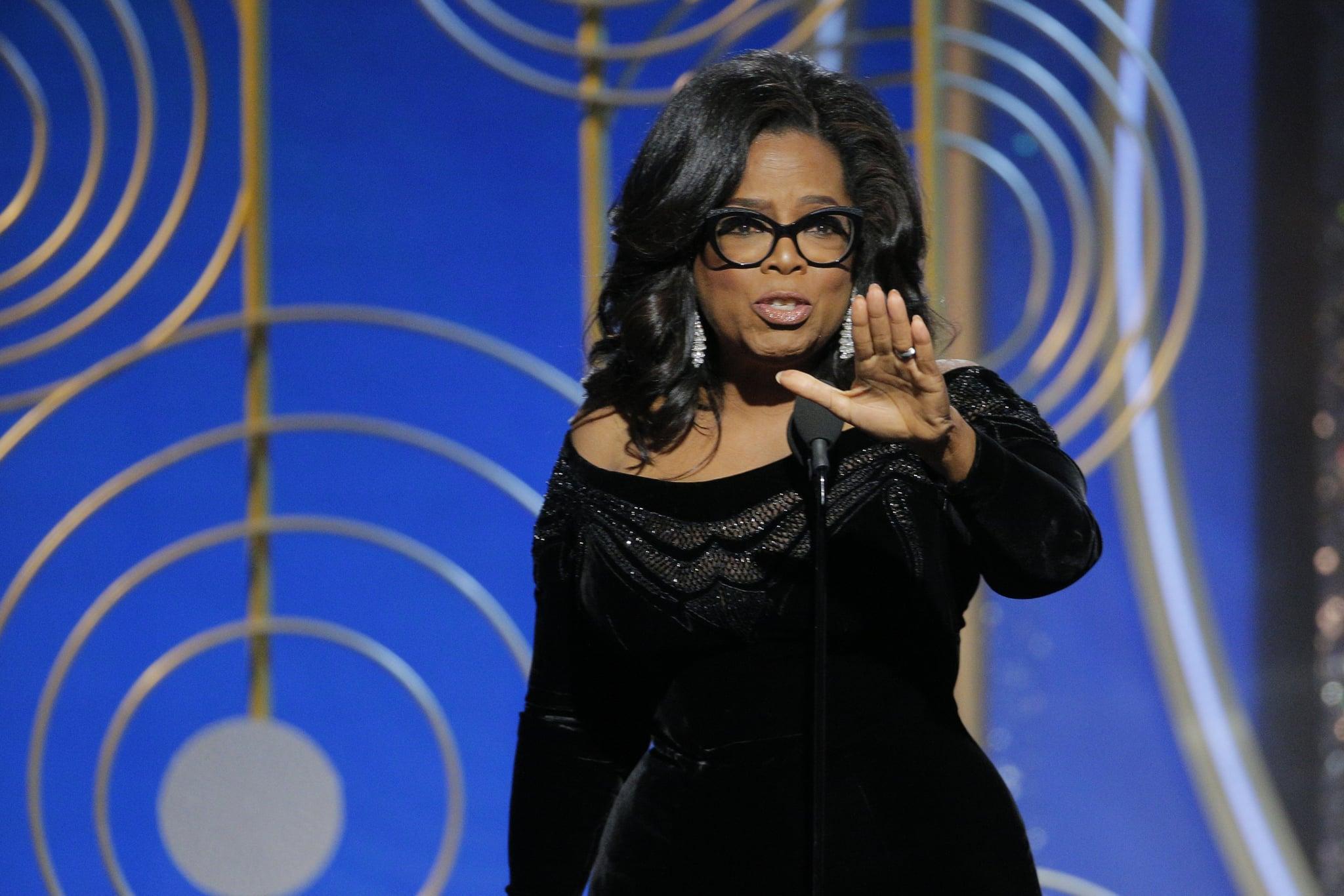 Oprah's Golden Globes speech sparks presidential run rumours, Trump reacts