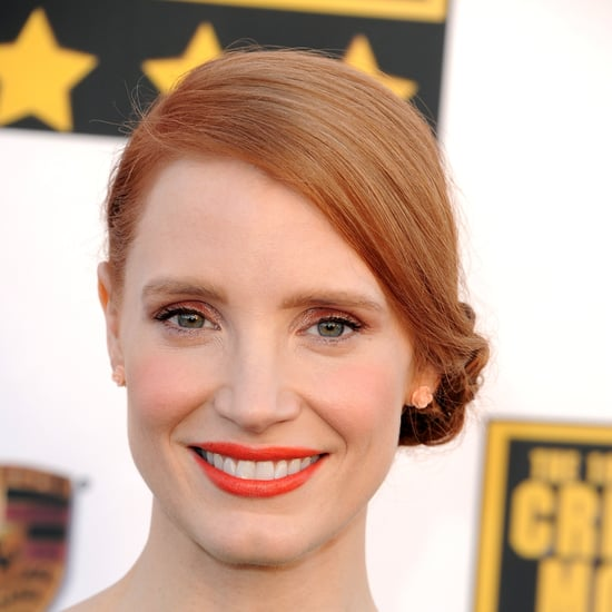 Jessica Chastain Braided Updo at Critics' Choice Awards 2014