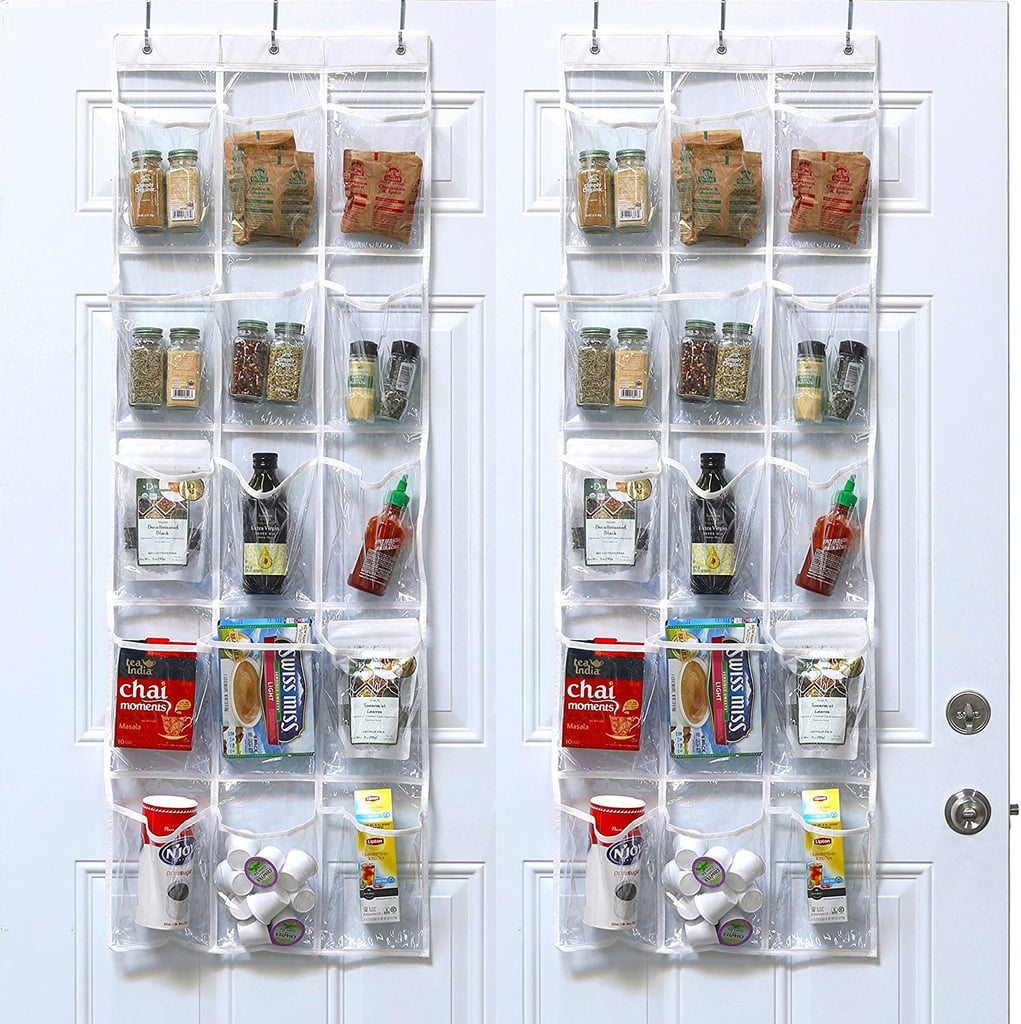 SimpleHouseware Crystal Clear Over The Door Hanging Pantry Organizers