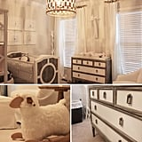 A Soothing Gray-and-White Nursery For A Baby Girl