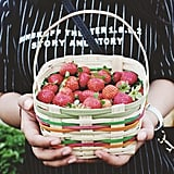 Pick strawberries together.