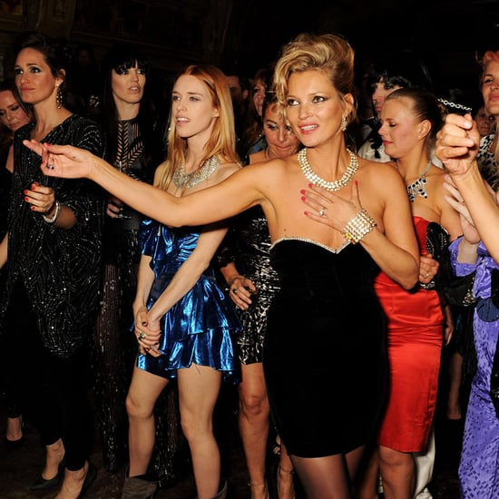 Kate Moss 80s Theme Party Pictures With Celebrity Friends