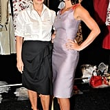 Carolina Herrera and Olivia Munn got together backstage.