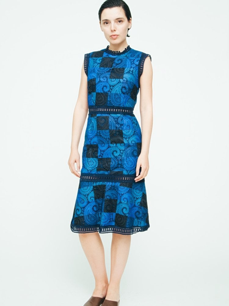 Go for the boldest colors in Sea New York's Printed Lace Sheath ($435)
