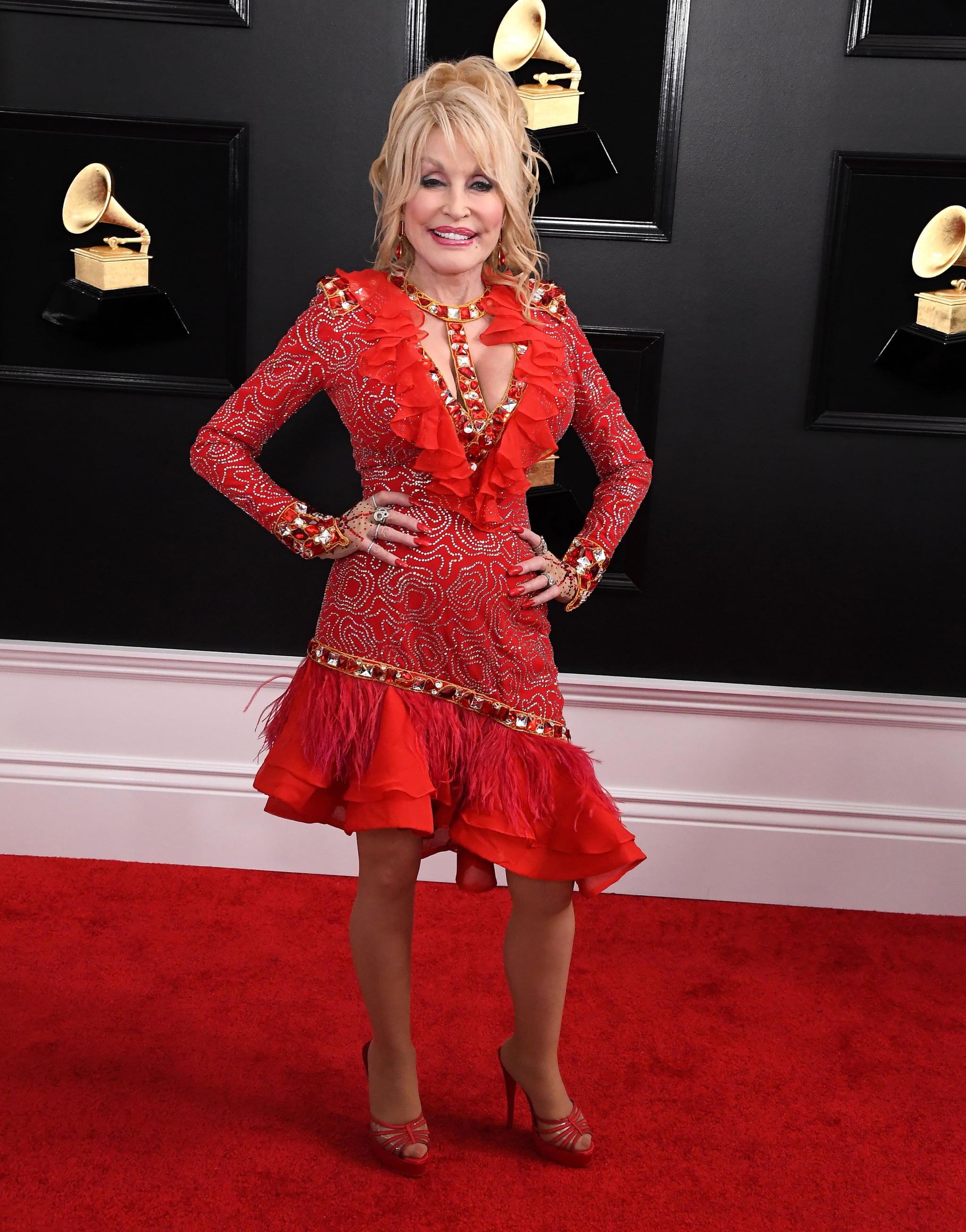 LOS ANGELES, CALIFORNIA - FEBRUARY 10: Dolly Parton arrives at the 61st Annual GRAMMY Awards at Staples Center on February 10, 2019 in Los Angeles, California. (Photo by Steve Granitz/WireImage)