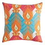 Dancing Flames Ikat Pillow