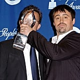 Matt and Matthew got playful in the press room during the People's Choice Awards in 2004.