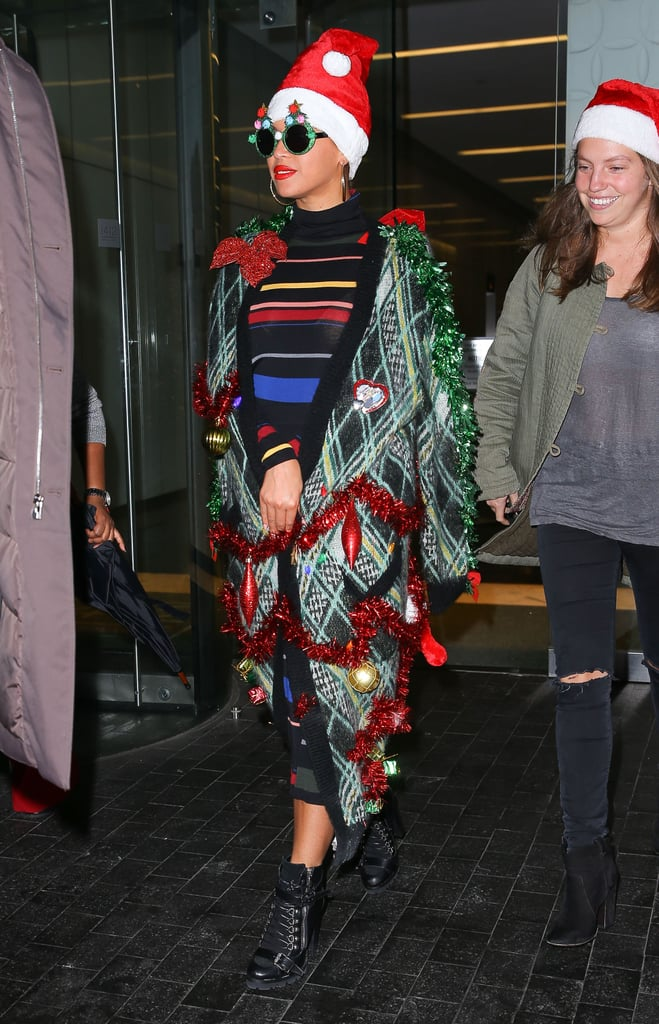 Beyonce Dressed Up Like A Christmas Tree Popsugar Celebrity