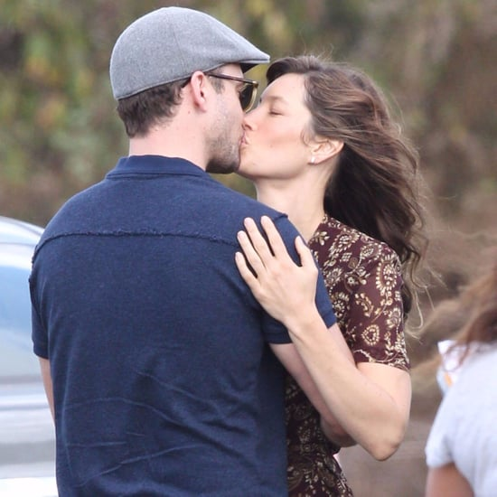 Justin Timberlake and Jessica Biel Kissing November 2016