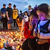October 28: Mourners attended a candlelit vigil outside Dreamworld in Queensland, after four people lost their lives on a ride.