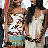 Beyoncé and Kelly were all smiles at MTV's TRL studio back in 2005.