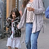 Katie Holmes and Suri Cruise Pictures Eating Cupcakes
